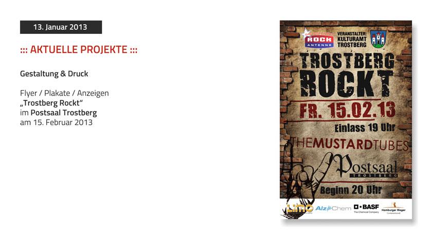 Plakate und Flyer Trostberg Rockt