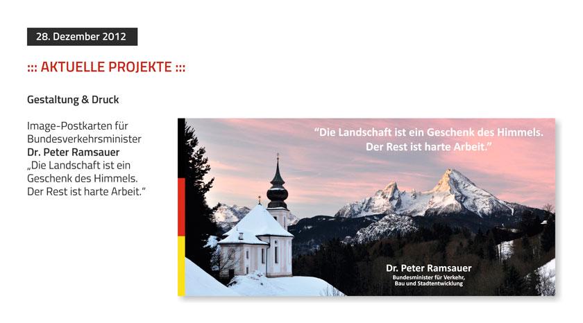 Image Postkarten für Bundesminister Ramsauer
