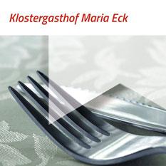 Grueß Gott und Herzlich Willkommen im Klostergasthof Maria Eck, Siegsdorf anno 1636. Erleben Sie auf dem Weg nach Maria Eck die herrliche Aussicht auf die Berge und den schoensten Panoramablick auf den Chiemsee.