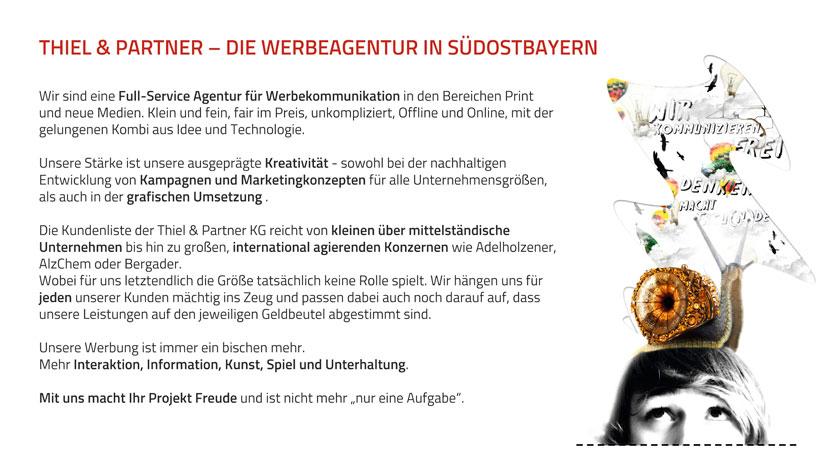 Thiel und Partner, die Werbeagentur in Südostbayern