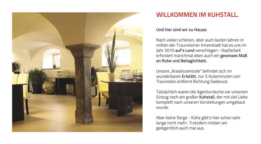 Willkommen im Kuhstall, unser Office